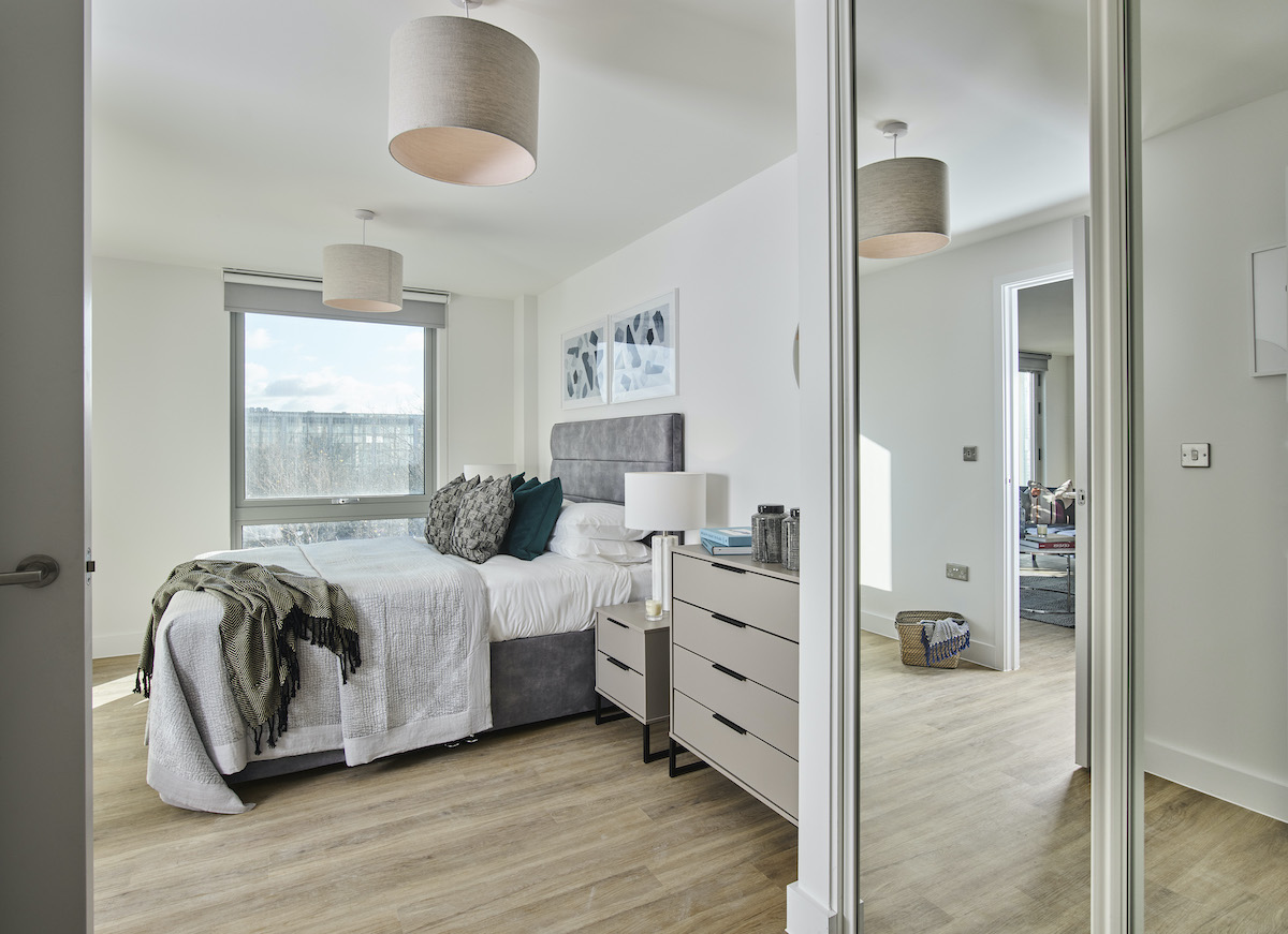Bedroom one - Solstice Apartments MK - Grainger PLC