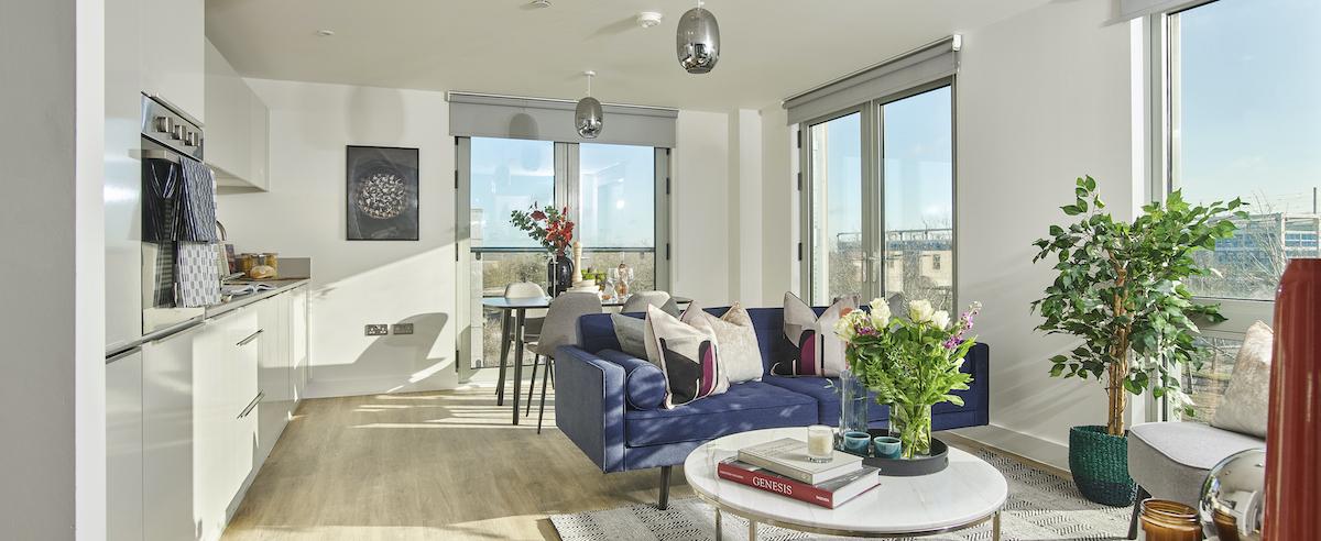 Kitchen/living area - Solstice Apartments MK - Grainger PLC