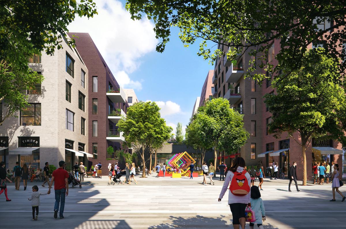 Outdoor space, BTR scheme in Bermondsey