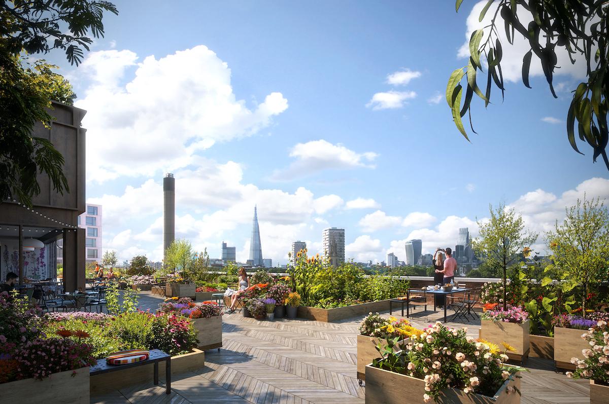 Public roof terrace, BTR scheme in Bermondsey