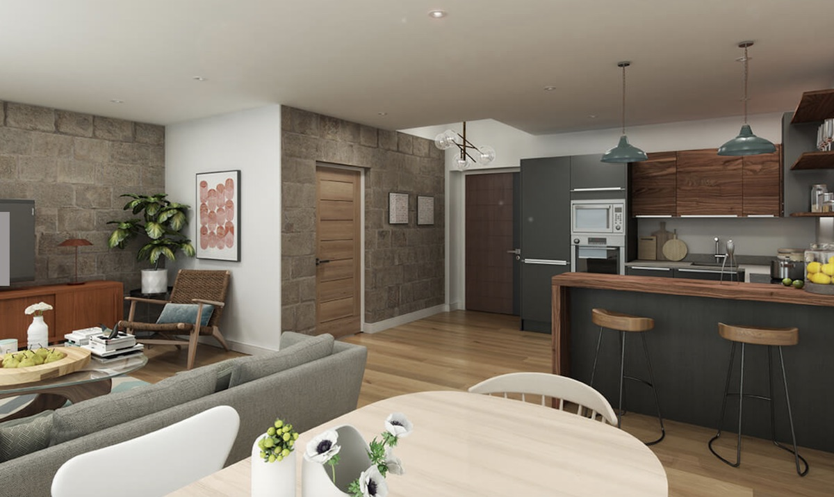 The Masons on the Green Build to Rent scheme - kitchen, lounge & diner