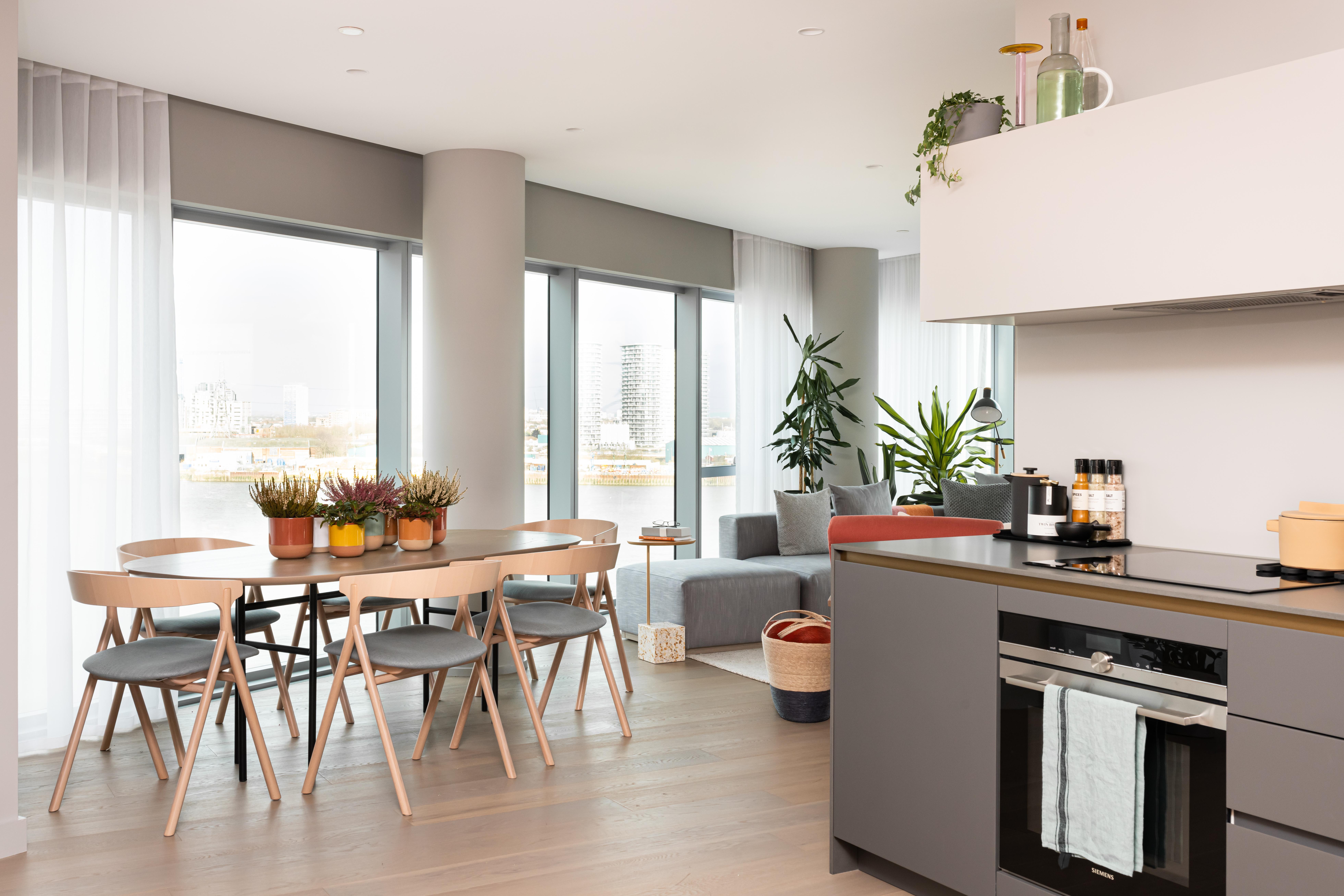 Greenwhich Peninsula kitchen/lounge