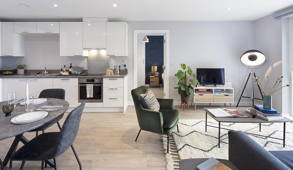 Lounge/kitchen/diner, Clippers Quay BTR scheme