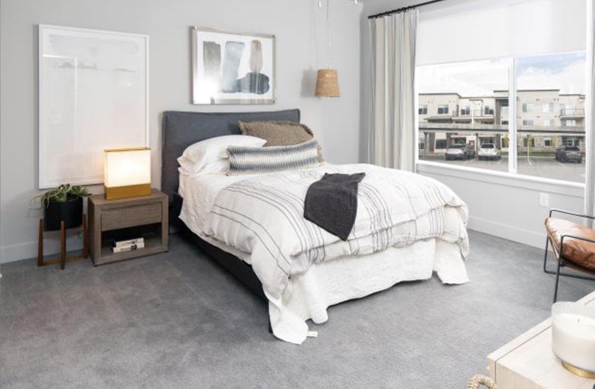 Soleil Lofts multifamily project, Herriman, Utah - bedroom