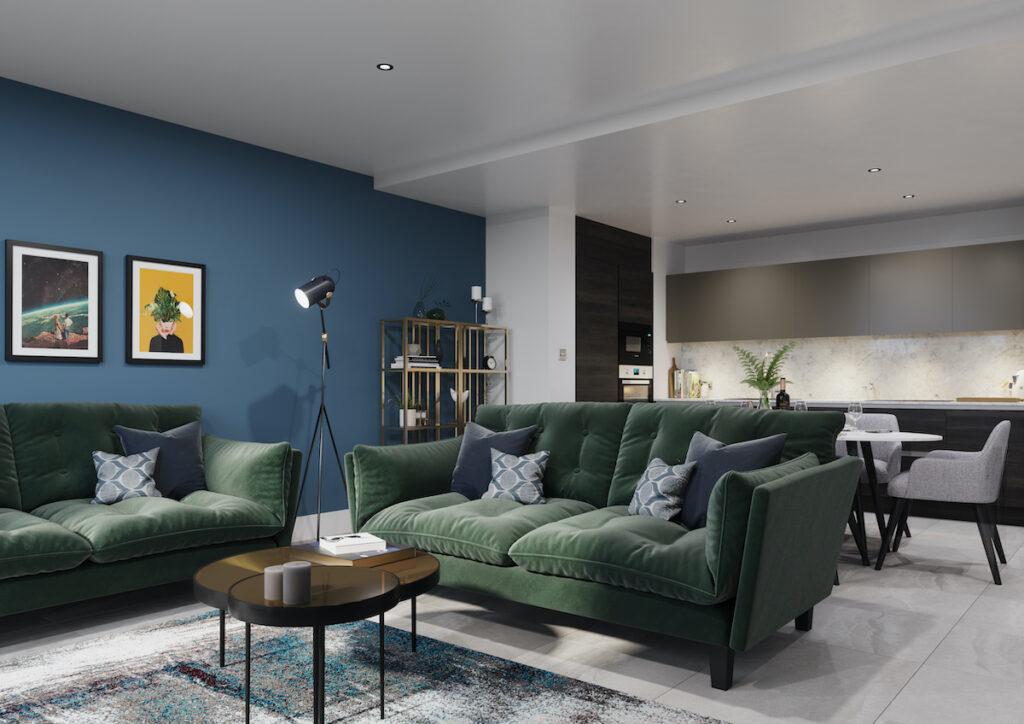 3 bedroom apartment living, Angel Gardens