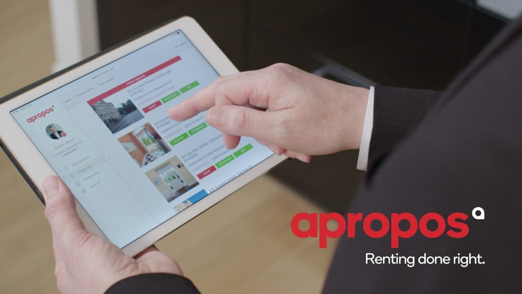 Apropos proptech rental platform - renting done right