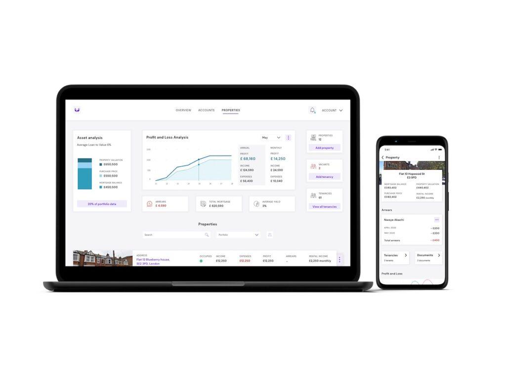 Laptop and phone version of Hammock's tech platform | BTR News