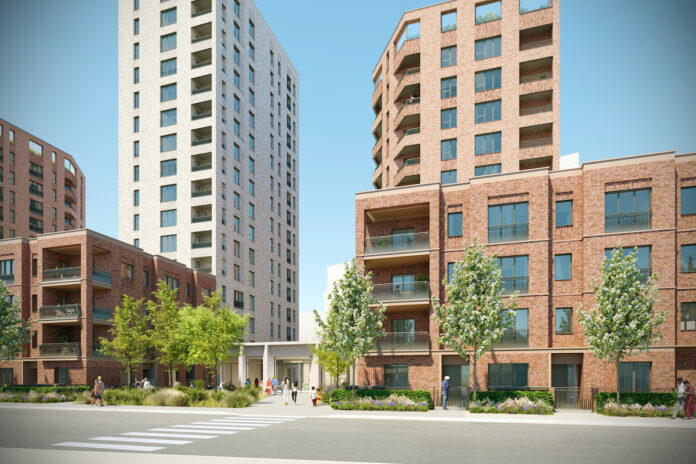 Assael Architecture's CGI of Connected Living London's Southall development | BTR News
