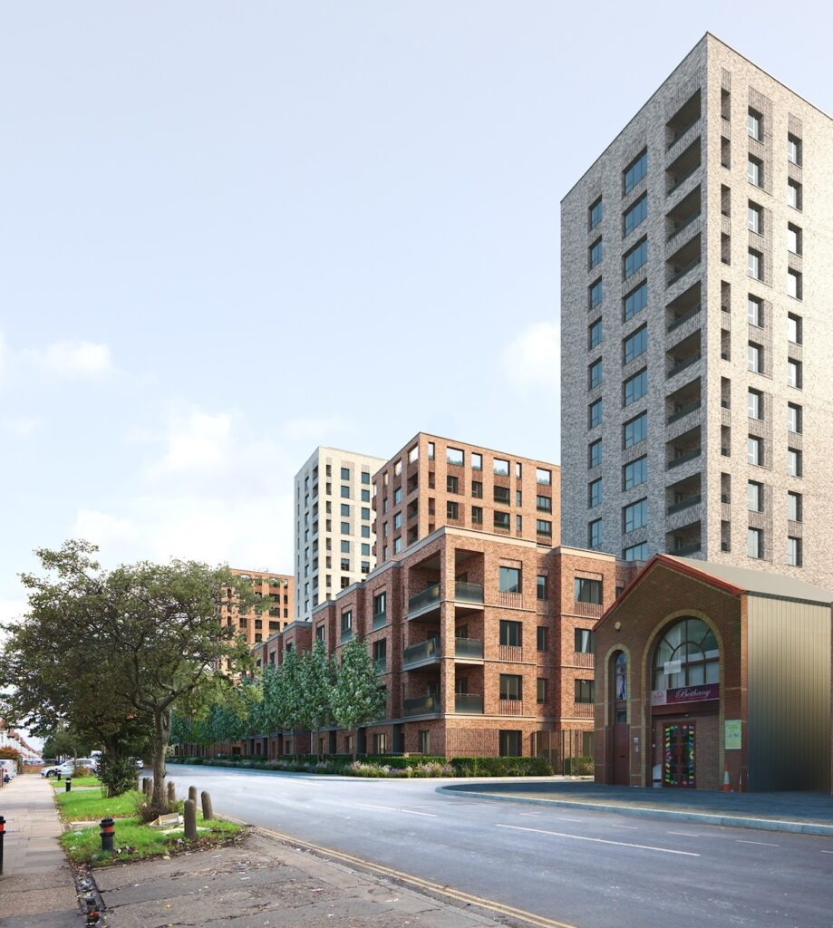 Assael Architecture's CGI of Connected Living London Southall development - street view | BTR News
