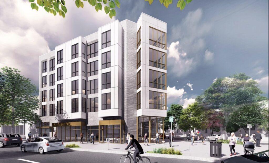 Modo multifamily building, side view - Community Three Development | BTR News