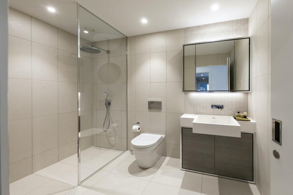Shower room at 8 Water Street, apartment 102 - Vertus | BTR News