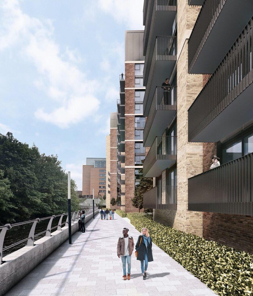 Street view of Kelvin Living Build to Rent development, Glasgow - KR Developements | BTR News