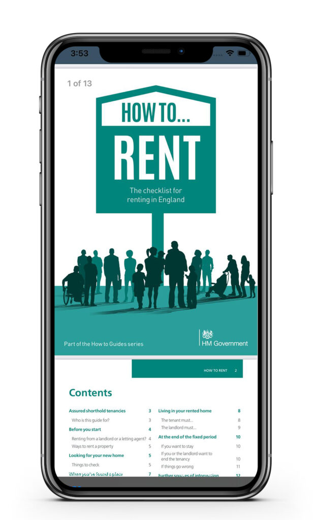 PlanetRent tenants app access to the How to Rent checklist document - Ringley Group | BTR News