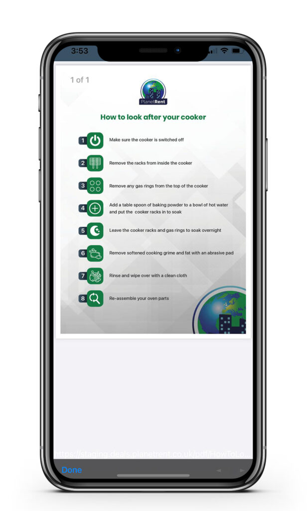 PlanetRent tenants app - how to look after your cooker - Ringley Group | BTR News